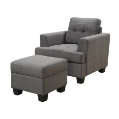 Gray Accent Chair With Ottoman Gaiam Balance Ball Exercises Shop Emerald Home Clearview Tufted Cushions Block Legs And Squared Arms Free Shipping Today Overstock Com 12806073