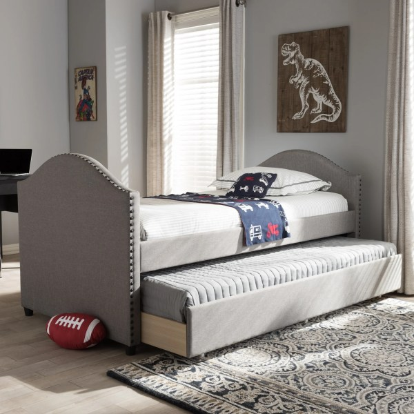 Baxton Studio Kleisthenes Modern Upholstered Daybed With