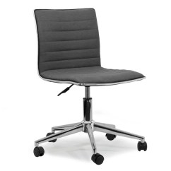 Chair With Wheels Steelcase Shop Aiko Grey Fabric Chrome Metal Swivel Office
