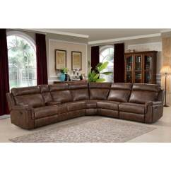 6 Piece Living Room Set Pictures Of Grey Painted Rooms Shop Ac Pacific Clark Brown Polyester Wood Steel Foam Reclining