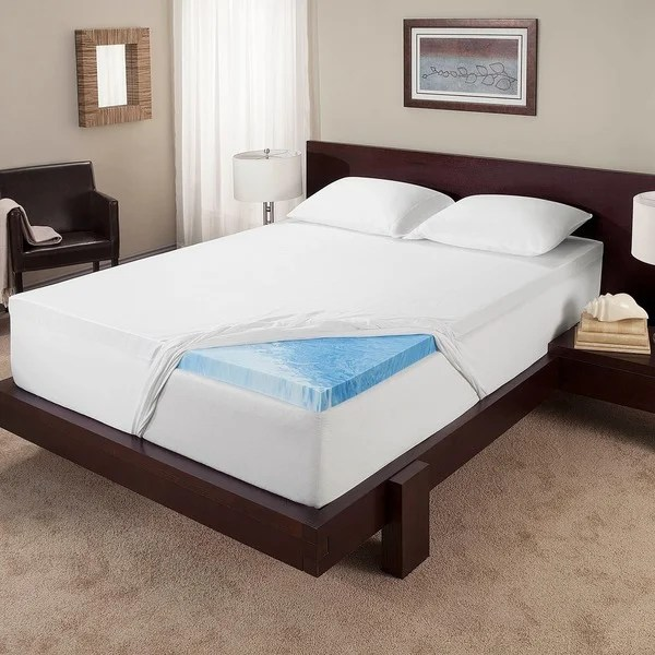 shop touch of comfort 3 inch gel memory foam mattress topper free shipping today overstock com 12819661