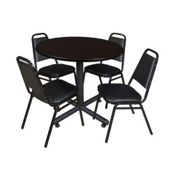 Stackable Restaurant Chairs What Is A Papasan Chair Shop Regency Seating Kobe Wood Metal Laminate 42 Inch Round Table With 4 Black