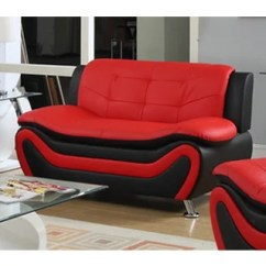 Black And Red Living Room Furniture Modern Paintings For Buy Sets Online At Overstock Com Our Roselia Faux Leather Contemporary Style Loveseat