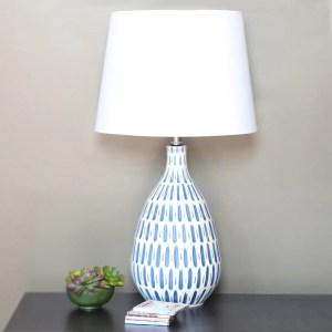 Carson Carrington Stege Blue/ White Ceramic 24.5-inch Table Lamp