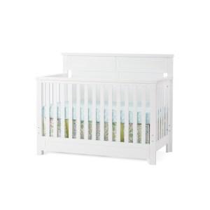 Child Craft Abbott Matte White 4-in-1 Lifetime Convertible Crib