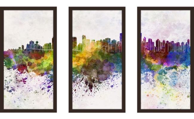 Shop Vancouver Framed Plexiglass Wall Art Set Of 3