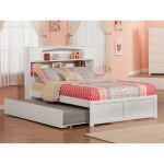 Newport White Full Platform Bed W Twin Trundle Overstock 12852191