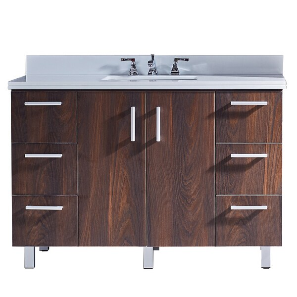Shop 48 Bathroom Vanity with Phoenix White Artificial