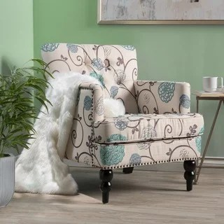 accent chairs under 150 black high chair buy living room online at overstock com our best harrison floral fabric tufted club by christopher knight home