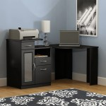 Shop Black Friday Deals On Bush Furniture Vantage Corner Desk In Classic Black Overstock 12864034