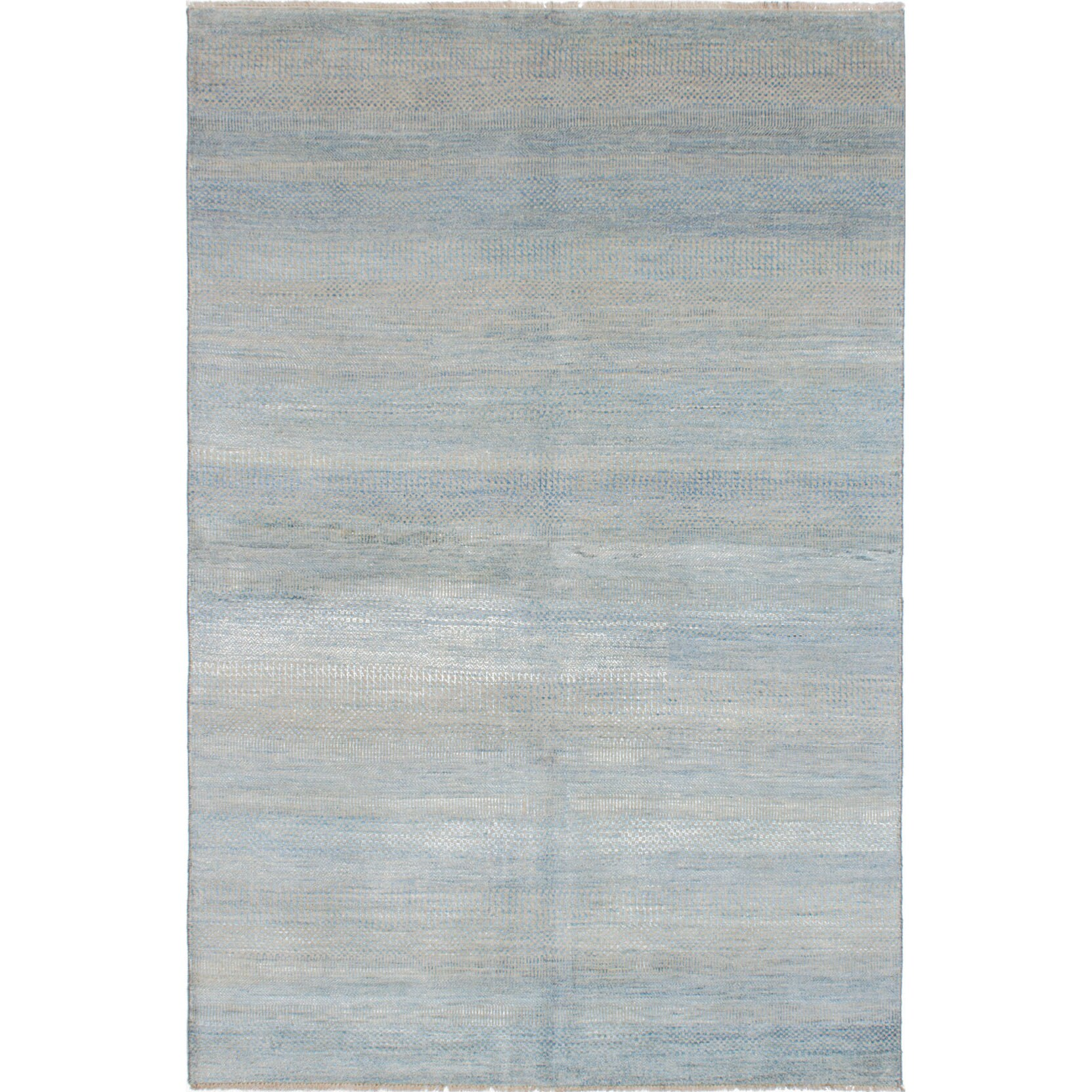 eCarpetGallery Hand-knotted Shevra Blue Wool Blend Area Rug (6'0 x 9'1)