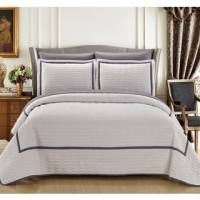 Chic Home Kingston 8-Piece Beige Bed in a Bag Duvet Set ...