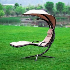 Hammock Chair With Canopy Outdoor Folding Chairs Shop Naturefun Arc Stand Adjustable Beige