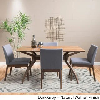 black dining table and chairs teak chaise lounge sale buy kitchen room sets online at overstock com our best bar furniture deals