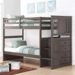 Donco Kids Princeton Twin Over Twin Or Twin Over Full Stairway Storage Bunk Bed In Slate Grey Overstock 12899322