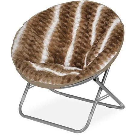 metal papasan chair faux fur butterfly shop urban textured polyester blend ombre wave saucer free shipping today overstock com 12899339