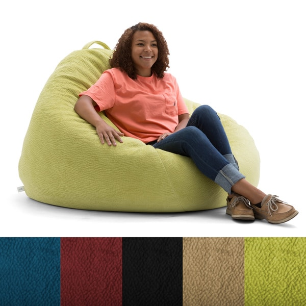 big joe milano bean bag chair bodycraft roman beansack lux textured polyester and polystyrene large teardrop - free ...
