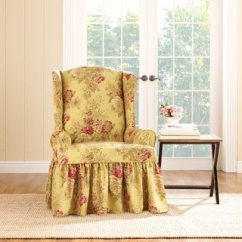Cotton Recliner Chair Covers Ergonomic Office Chairs For Sale Buy Wing Slipcovers Online At Sure Fit Ballad Bouquet Slipcover