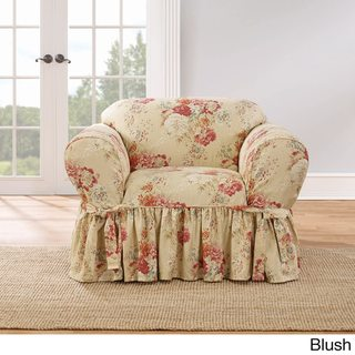 pink slipcover chair backjack anywhere floral slipcovers furniture covers find great home decor sure fit ballad bouquet 1 piece skirted