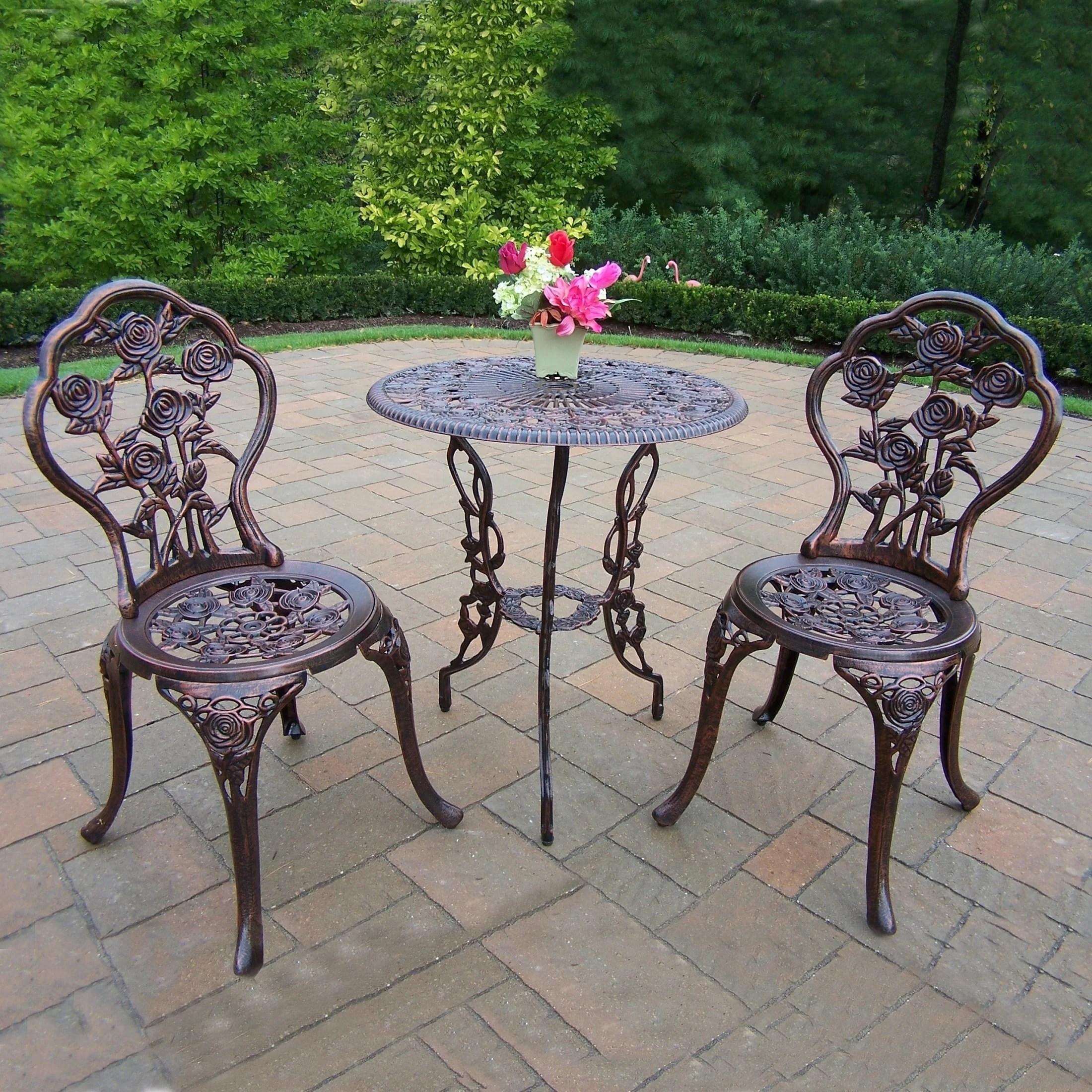 outdoor patio furniture 3pcs cast