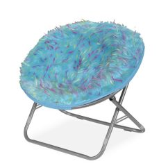 Foam Toddler Chair Summer Infant Bentwood High Shop Rock Your Room Spiker Blue Faux Fur Saucer Papasan - Free Shipping Today Overstock ...