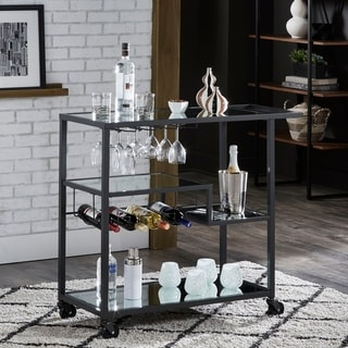 metal kitchen carts aid dish washer buy online at overstock com our best metropolitan gold mobile bar cart with mirror glass top by inspire q bold