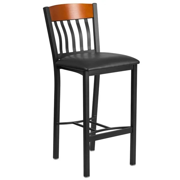 steel vinyl chair hide a bed sleeper shop vertical back metal and wood restaurant barstool with seat