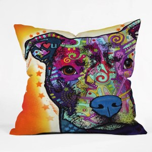Deny Designs Dean Russo Heart U Pit Bull Throw Pillow