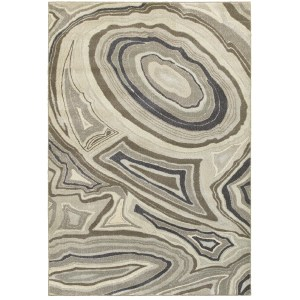 "Style Haven Marbled Ivory and Grey Plush Area Rug (7'10 x 10'10) - 7'10"" x 10'10"""