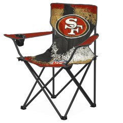 49ers Camping Chair Bedroom With Rail Nfl San Francisco Canvas Camp Metal Legs