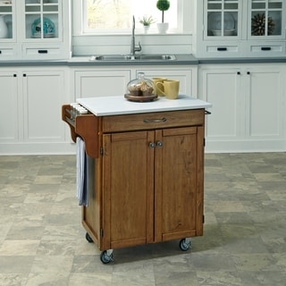 home styles kitchen cart corner cabinet storage buy carts online at overstock com our best cuisine in warm oak finish by