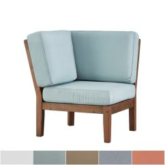 Wooden Corner Chair Godrej Revolving Specification Shop Yasawa Modern Brown Outdoor Cushioned Sectional Wood By Inspire Q Oasis