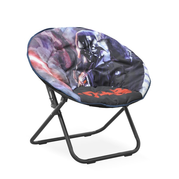 Star Wars Multicolored Polyester/Metal Kids Saucer Chair