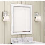 Alaterre 24 Inch White Bath Vanity Mirror On Sale Overstock 13223203