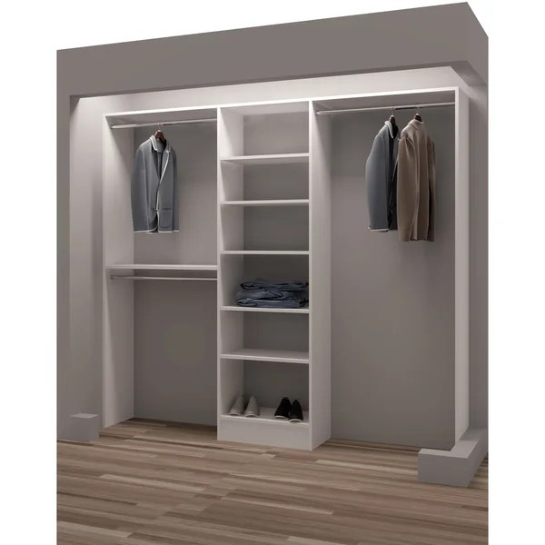 Tidysquares Classic White Wood 93inch Reachin Closet