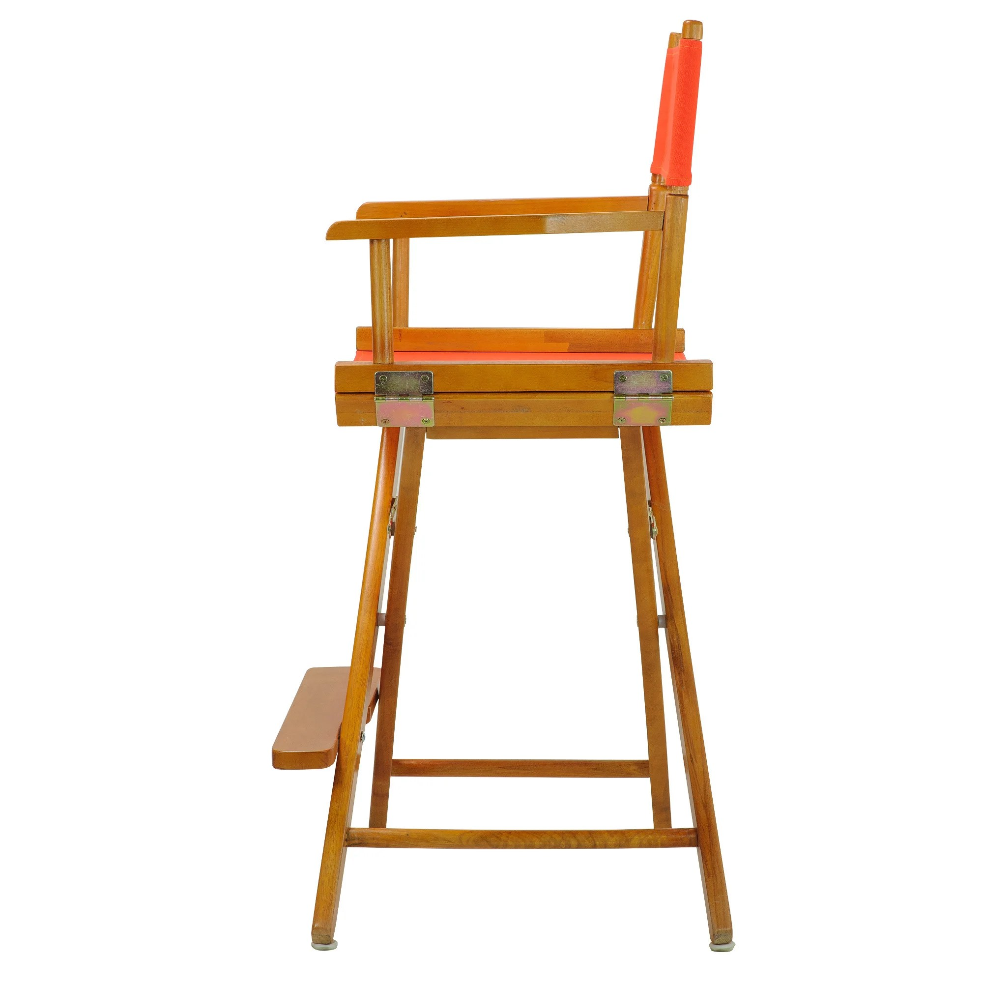 counter height directors chair club chairs leather honey oak frame 24 inch director 39s ebay