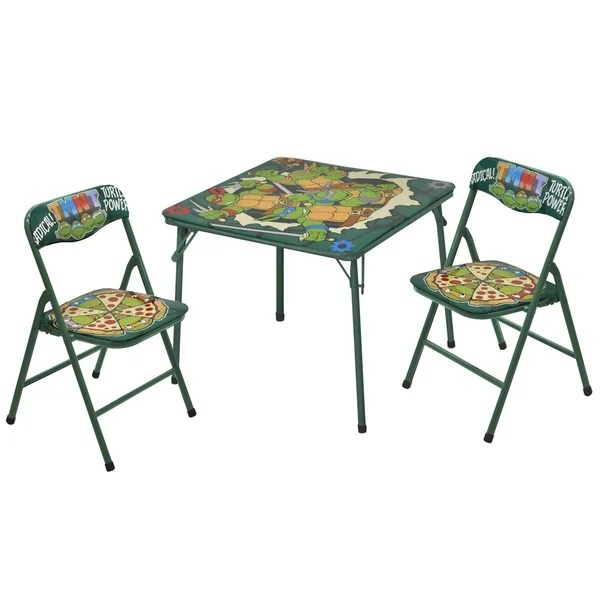 ninja turtles chair how to make a slipcover shop teenage mutant table and chairs 3 piece set free shipping today overstock com 13228097