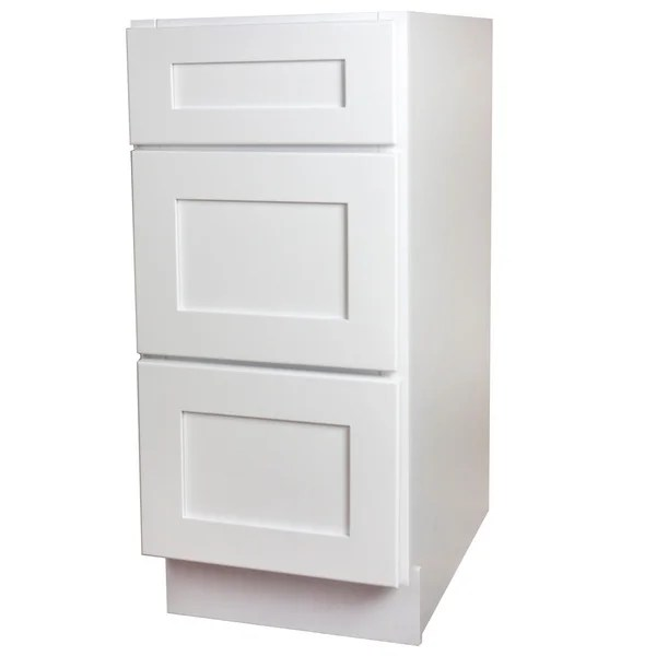 kitchen base cabinet sinks for 30 inch shop white shaker 3 drawer free shipping today overstock com 13338871
