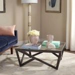 Details About Safavieh Mid Century Ralston Glass Top Coffee Table
