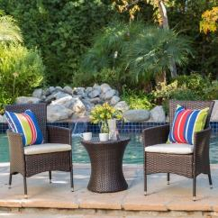 Cushions For Wicker Chairs Wheelchair Lift Car Shop 3 Piece Outdoor Chat Set With By Christopher Knight Home