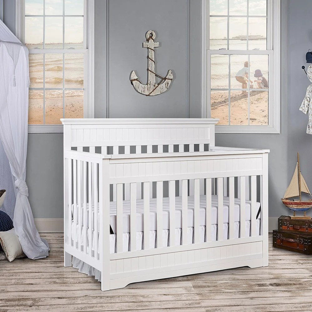 Dream On Me Chesapeake Snow Fall 5-in-1 Convertible Crib - White
