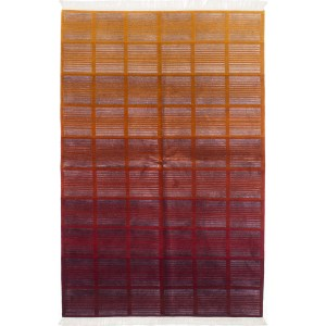 ecarpetgallery Hand-Knotted Eternity Gabbeh Red Wool Art Silk Rug (5'1 x 8'0)