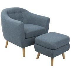 Modern Accent Chairs Best Spray Paint For Plastic Shop Carson Carrington Lieksa Mid Century Chair With Ottoman On Sale Free Shipping Today Overstock Com 13430944