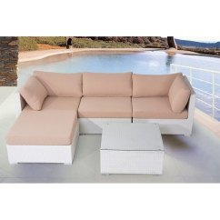 White Wicker Sofa For Sale Black Leather Set Shop 3 Piece With Cushions On Free