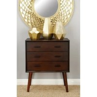 Mid-century 3-drawer Wood Side Table - Free Shipping Today ...