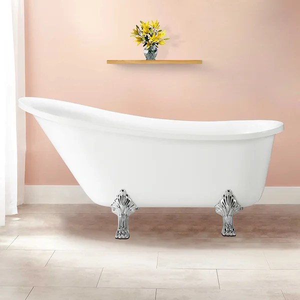 Jacqueline Soaking Claw Foot Bathtub 63 X 28 Free Shipping Today 20127692