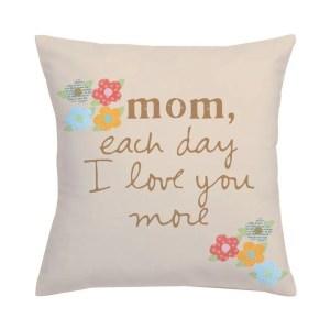 Sandra Magsamen 'I Love Mom' Multicolor Polyester Throw Pillow