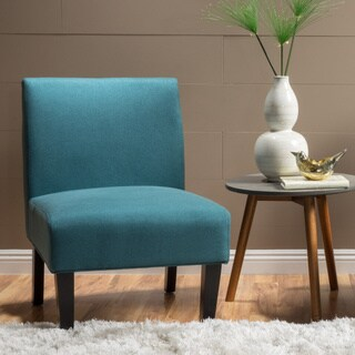 aqua accent chair ruffled pads buy chairs blue living room online at overstock com christopher knight home kassi fabric