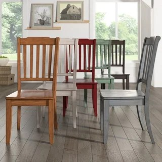 red kitchen chairs best laminate flooring for buy dining room online at overstock com our eleanor slat back wood chair set of 2 by inspire q classic