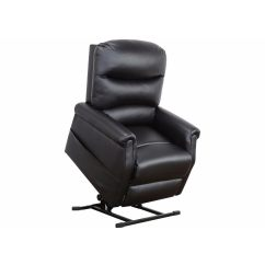 Plush Leather Chair Library Classic Bonded Power Lift Recliner Living